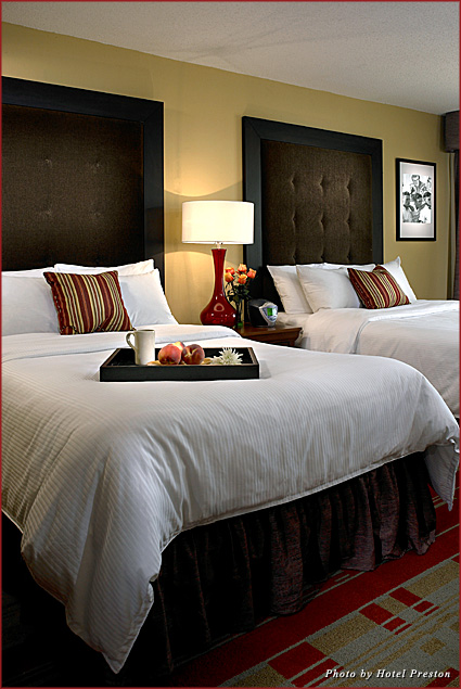 """Hotel Preston's """"No Valentine? No Problem!"""" package includes overnight accommodations and a bottle of bubbly"""