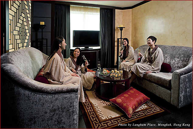 The relaxation lounge adjacent to Chuan Spa's Element Room