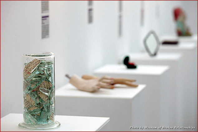 Donations on display at the Museum of Broken Relationships in Zagreb, Croatia