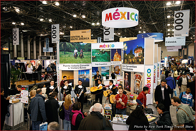 Mexico Tourism Bureau and their offices at the New York Times Travel Show