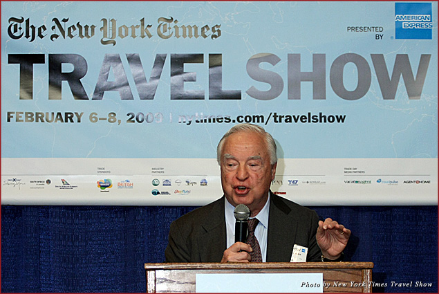 Speaker Arthur Frommer at the New York Times Travel Show