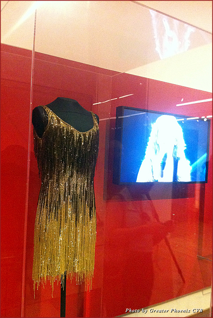 Taylor Swift's perfomance dress on display at the Musical Instrument Museum