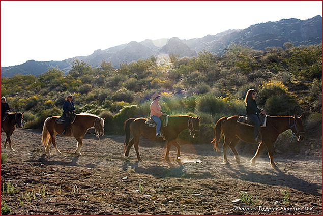 Ponderosa Stables, located at South Mountain in Phoenix