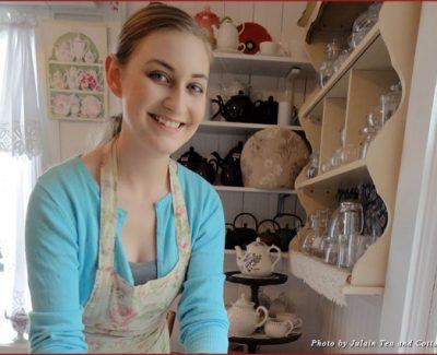 Jill serving tea