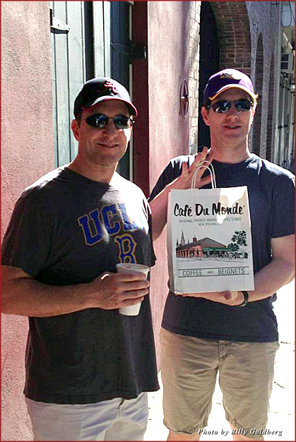 My brothers-in-law after our stop at Café du Monde