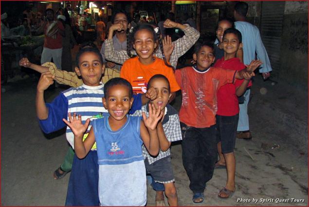 Children in Luxor, Egypt