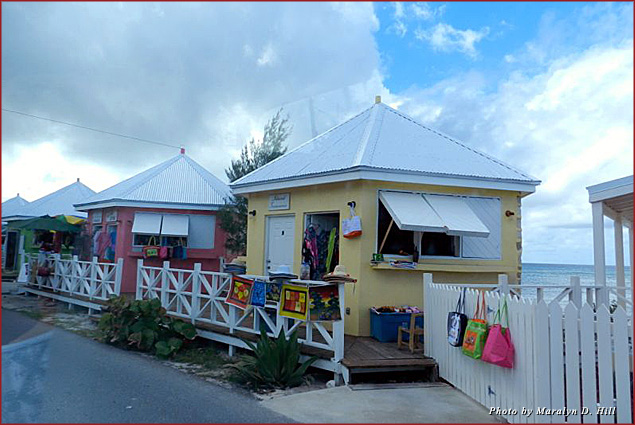 Local shops on Grand Turk