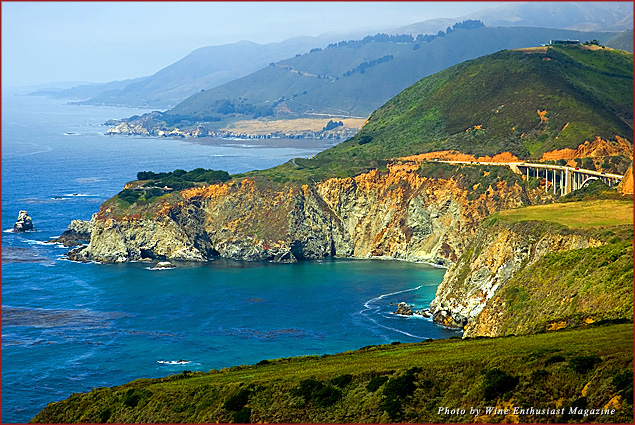 Monterey County, California, is one of Wine Enthusiast's 10 best wine destinations