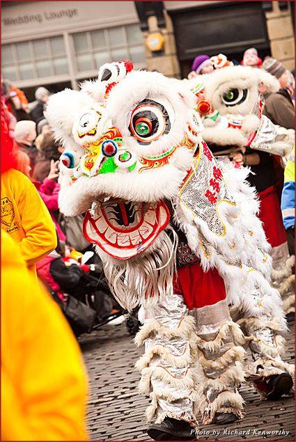 The Chinese New Year celebration at NewcastleGateshead includes traditional dance and music