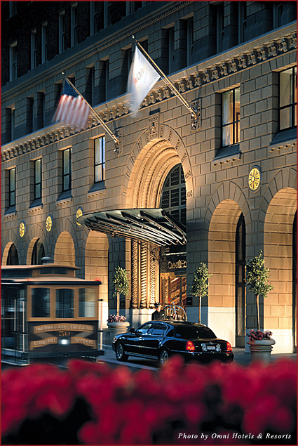 The exterior of the Omni San Francisco Hotel