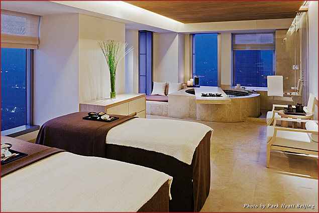 Guests at the Park Hyatt Beijing can meet with spa therapists at Tian Spa