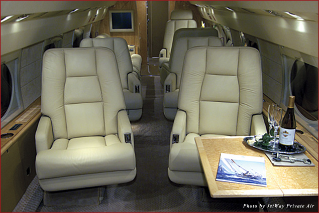 While on a private jet, take advantage of the airtime to sleep, read, or sit back and enjoy the view