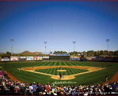Phoenix Municipal Stadium is one of 10 intimate stadiums in Phoenix's Cactus League