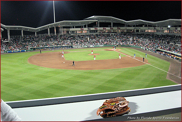 View from the Green Monster at Fenway South (JetBlue Park) in Fort Myers
