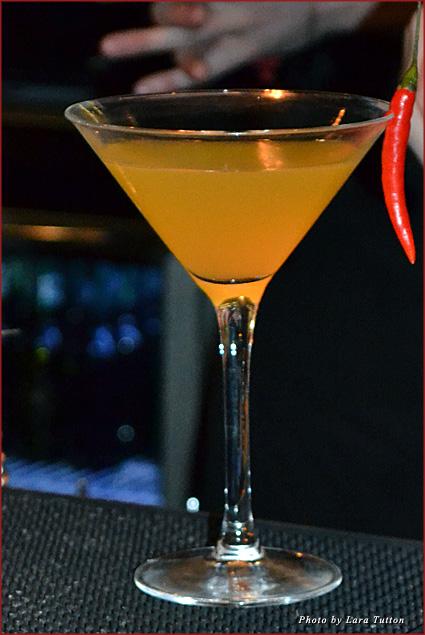 A fiery chili and mango martini