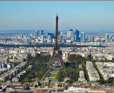 An overhead view of Paris