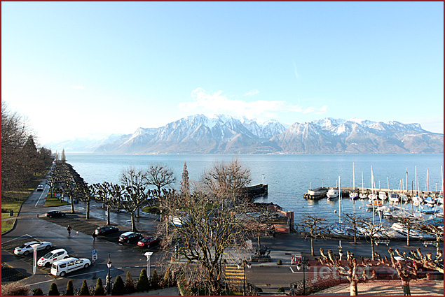Vevey's view of the Alps