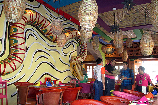 An outrageously colorful Mexican scene at La Chilanguita Centro