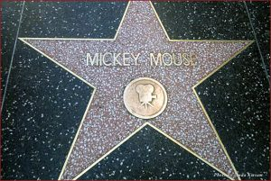 Mickey Mouse star on the Walk of Fame