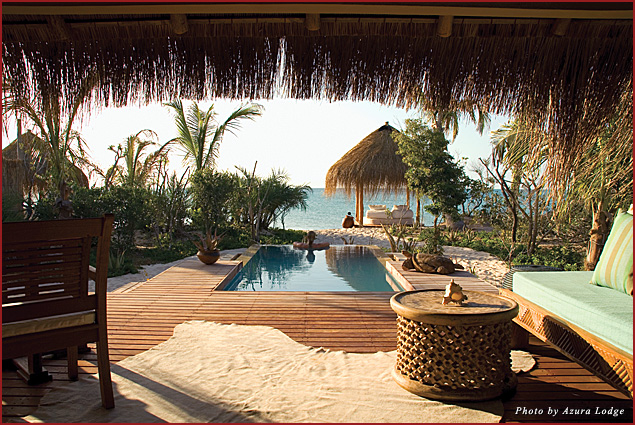 In Mozambique, private lodges provide intimate and rustic luxury