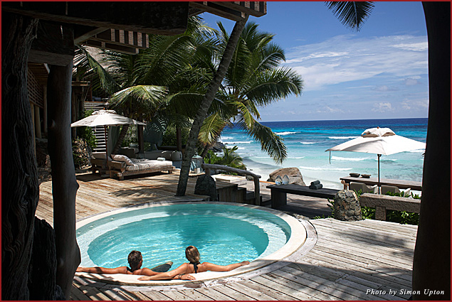 The pure white beaches and sparkling turquoise waters draw honeymooners to the Seychelles