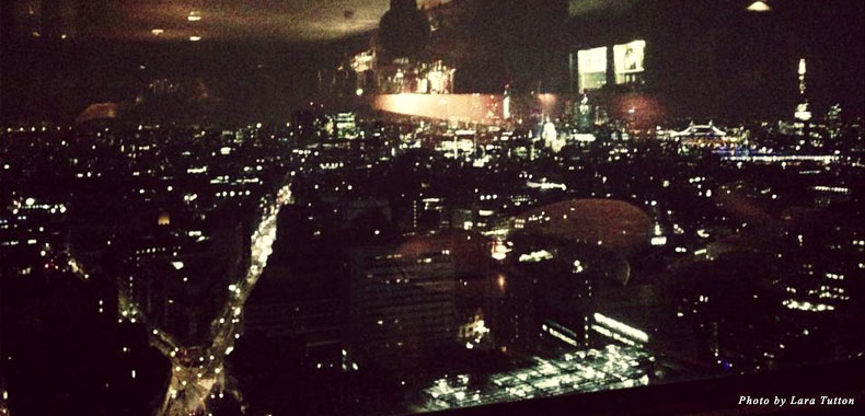 The view from Paramount by night