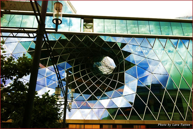 The stunning facade of MyZeil, a mall unlike any other