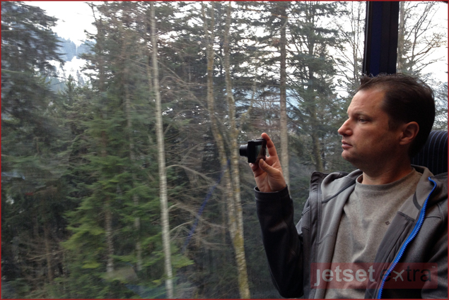 Jason taking photographs of our view on the scenic train