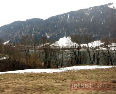 A view of the Switzerland from the Golden Pass scenic train