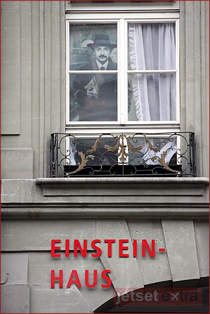 Einstein House in Bern, Switzerland, where Einstein lived and developed his Nobel Peace Prize-wining ideas