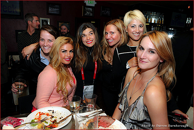 Hollywood girls, supporting the Brits
