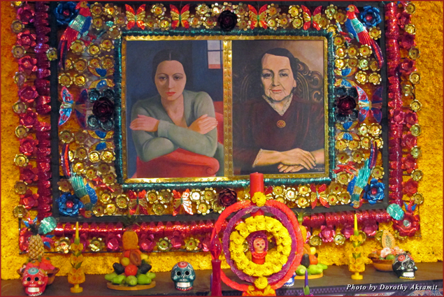 Day of the Dead altar for Dolores Olmedo and her mother