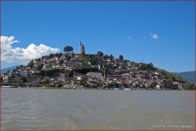 Janitzio Island in the middle of Lake Patzcuaro