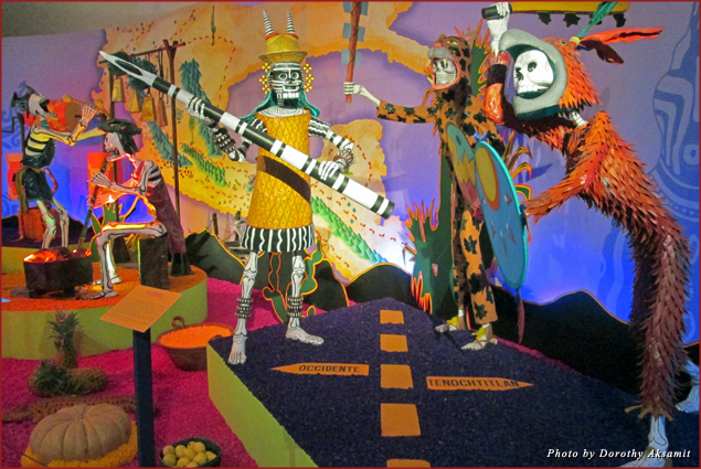 Day of the Dead exhibit at the Dolores Olmedo Museum