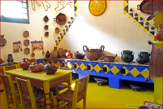 Frida Kahlo's bright, traditional kitchen