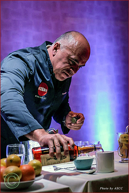 Celebrity mixologist Tony Abou-Gamin makes a hot toddy
