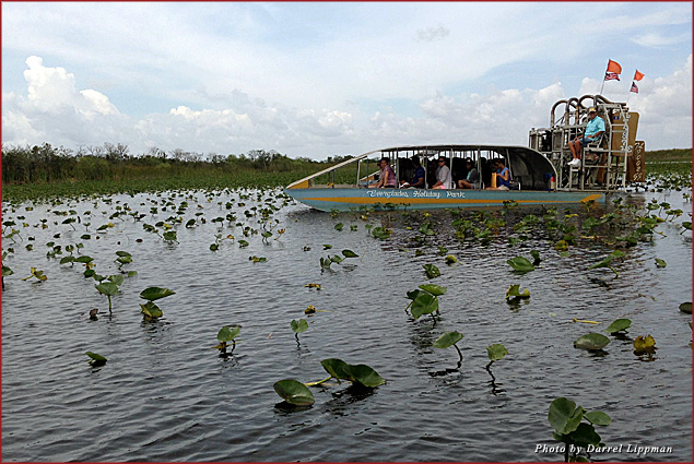 An airboat in the Florida Everglades
