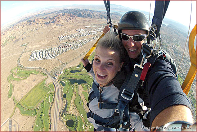 Get a bird's-eye view of Las Vegas with Skydive Las Vegas