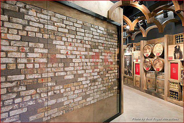 View the actual St. Valentine's Day Massacre wall at Vegas' Mob Museum