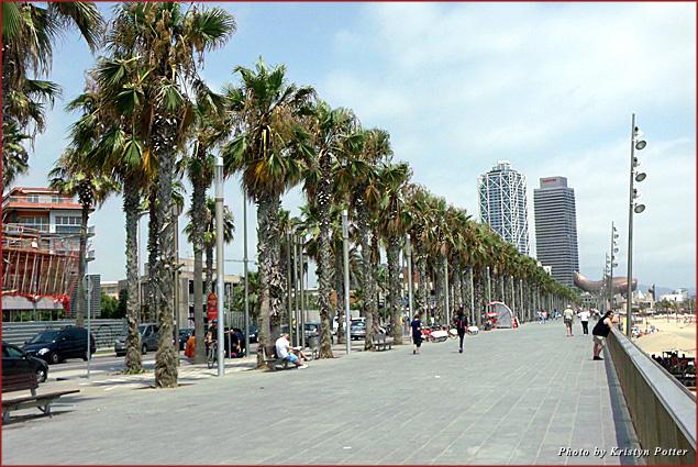 A view of the Port de Barcelona