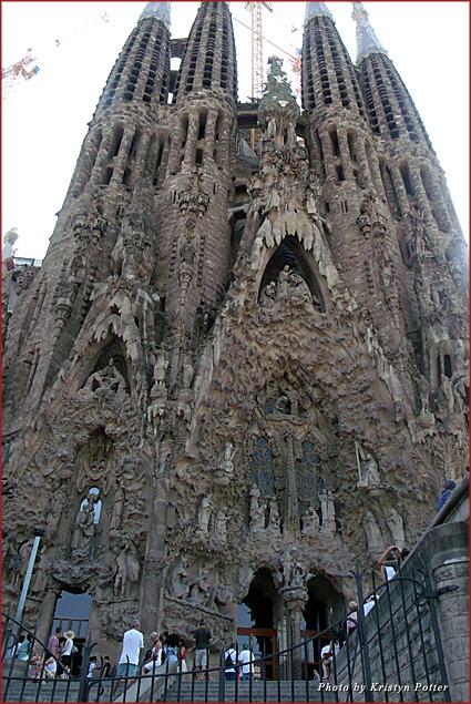 The famous La Sagrada Familia cathedral in Barcelona