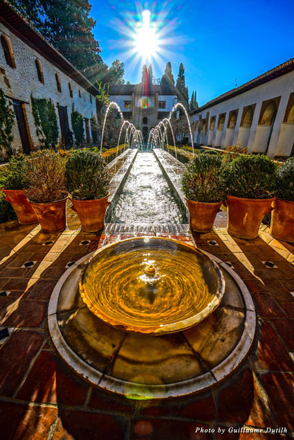 Beautiful fountains at Generalife