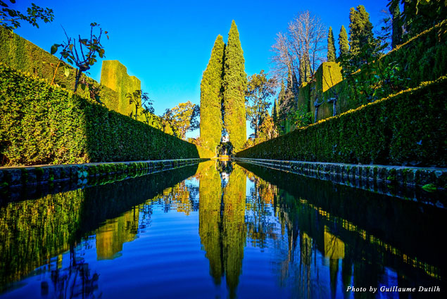 The beautiful fountains of Generalife