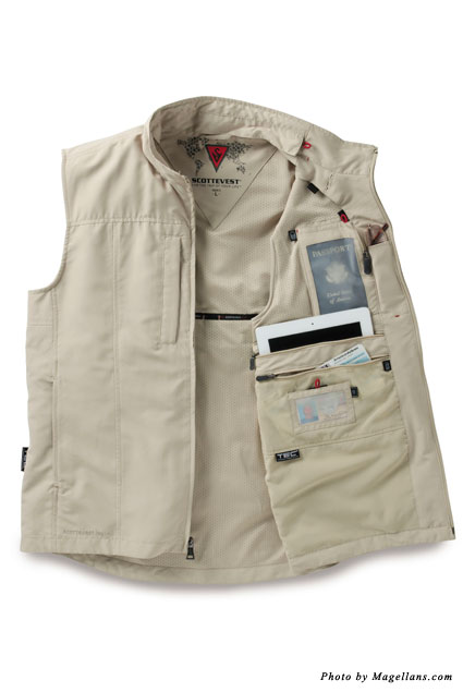 Versatile SCOTTEVEST features 24 pockets