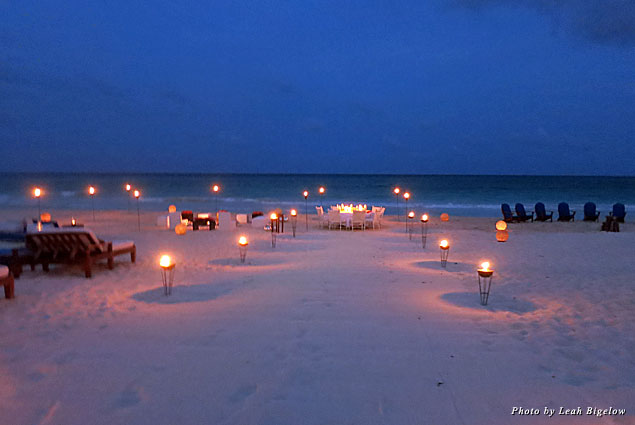 Dinner is best served on the beach at Maroma Resort & Spa