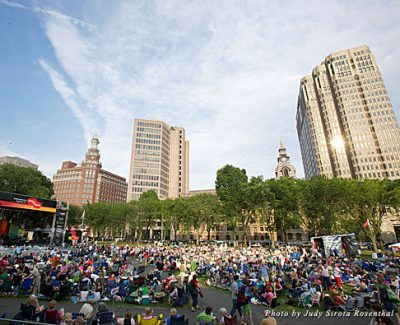 Enjoy arts on the green at the International Festival of Arts & Ideas
