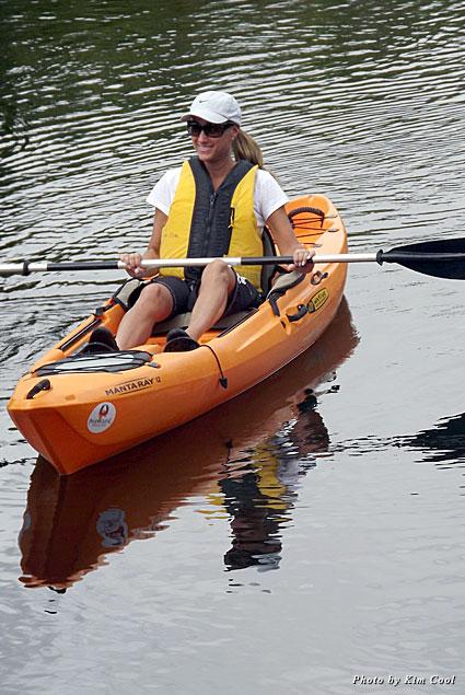 Kayaking down Shell Creek River