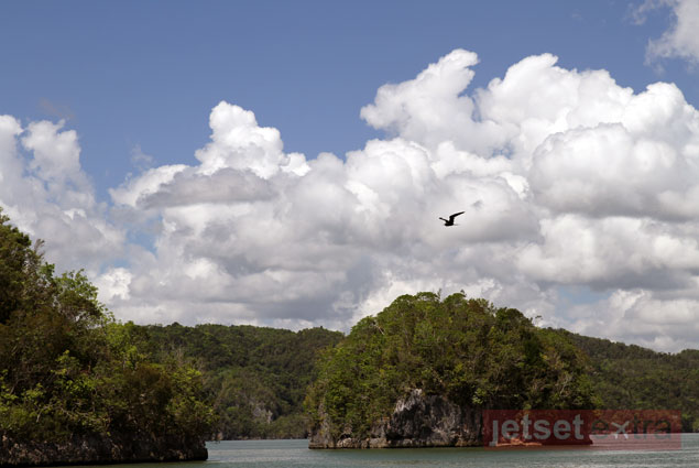View from the boat of the Los Haitiases National Park area