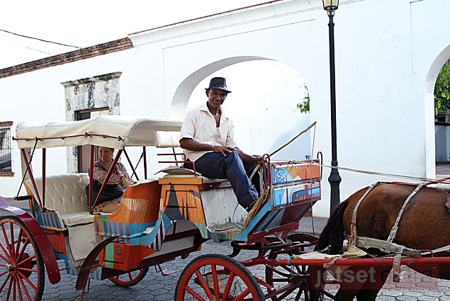 Maxine and Mary Anne's carriage ride through Santo Domingo in the Dominican Republic