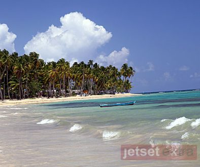 View of Las Terrenas Beach in the Dominican Republic